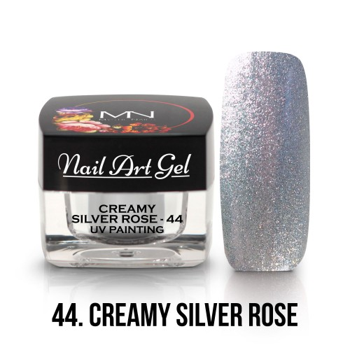 UV Nail Art Gel - 44 - Creamy Silver Rose - 4g