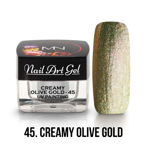 UV Nail Art Gel - 45 -  Creamy Olive Gold - 4g