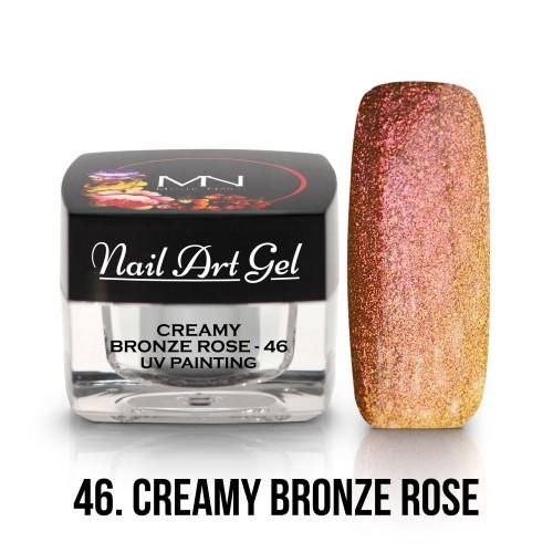 UV Nail Art Gel - 46 -  Creamy Bronze Rose - 4g