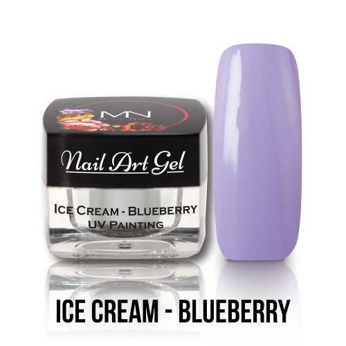 UV Nail Art Gel- Ice Cream - Blueberry - 4g