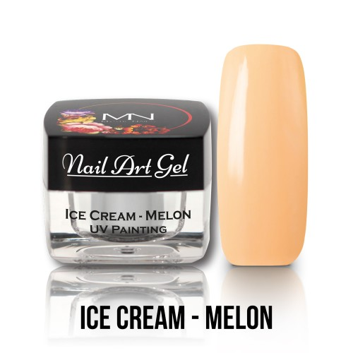 UV Nail Art Gel- Ice Cream - Melon - 4g