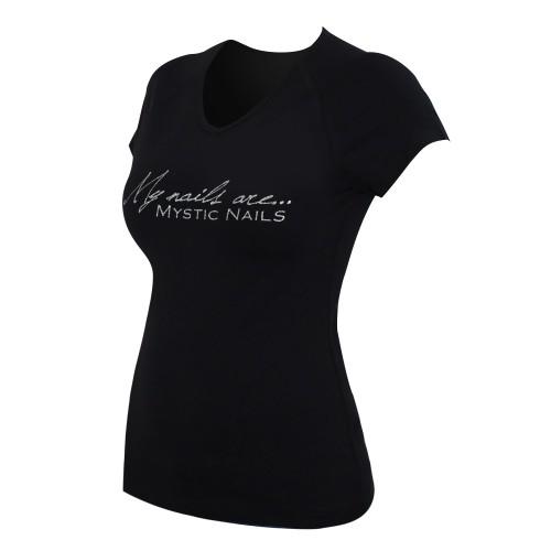 MN Glamour Black T-shirt - Big Logo - M