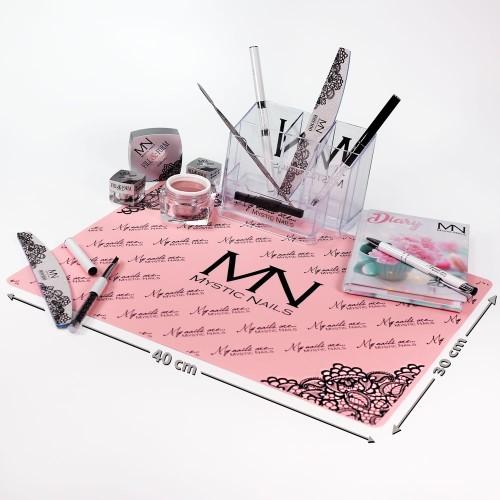 Tovaglietta in silicone Mystic Nails - rosa